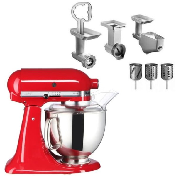 robot da cucina kitchenaid artisan 5ksm150pseca. Black Bedroom Furniture Sets. Home Design Ideas